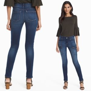 WHBM PETITE MID-RISE SKINNY ANKLE UTILITY JEAN New